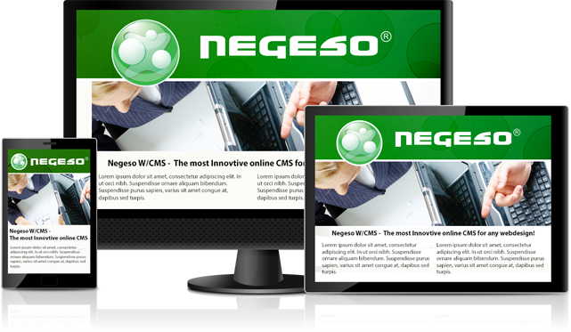 One Negeso W/CMS website publishes to many devices.